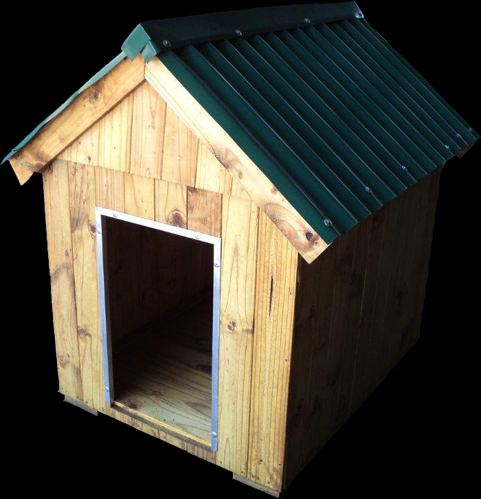 L Size Security Dog House with Reinforced Edging around the Entrance